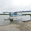 Loading the Dehavilland Beaver for the flight to Copper River Lodge.