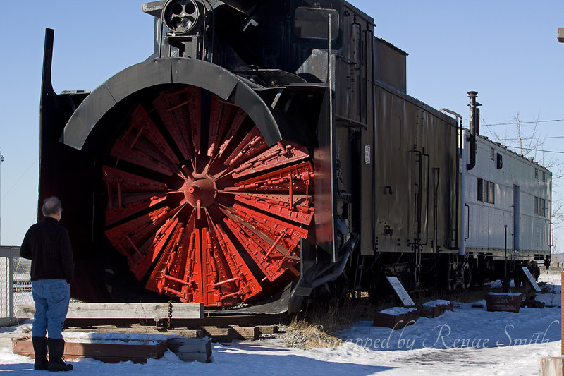 These rotary snowplows 9 feet high were used by the railroad to clear the tracks of snow along the Turn Again Arm and through the Kenai mountains