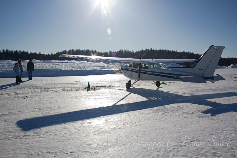 Our plane, Millie, Kenny and Joe, our pilot.  We stopped for a short break at Talkeetna before heading back to Anchorage.