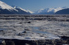 We drove 45 minutes south of Anchorage, where the frozen mud flats along Turn Again Arm inlet stretched for miles and miles.  I've never seen anything like it.