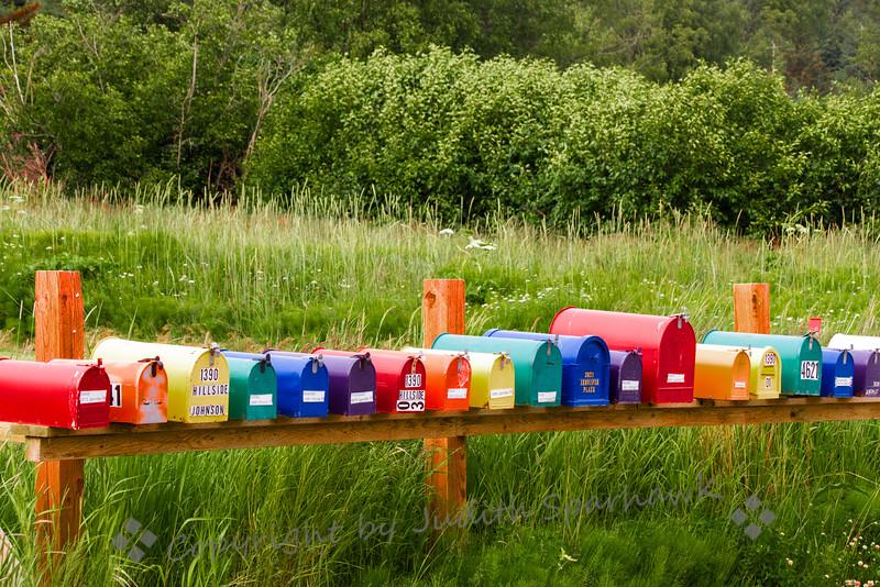 Rainbow Mailboxes
