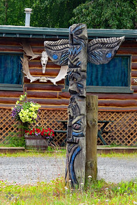 Totem Pole at Kenai, Alaska