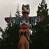 (84)  The Totems stand in a park in the village of Saxman