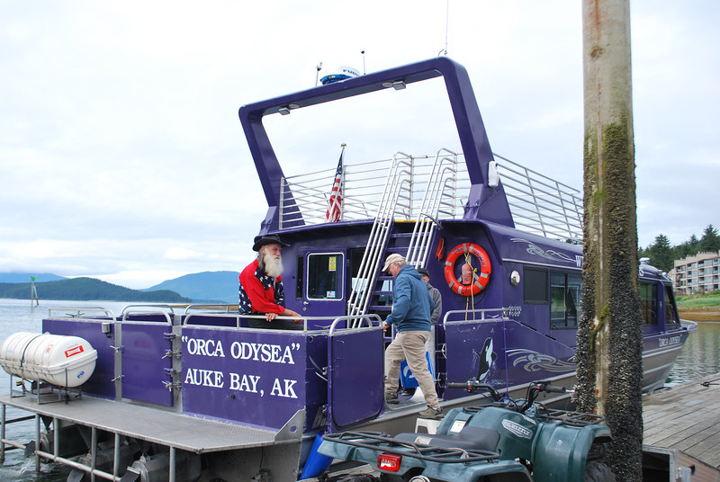 This is the boat we went Whale hunting in with Capt. Larry and his staff.  And Whales we did see!!
