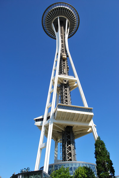 (1)Seattle Washington - Space Needle   We went to the top Observation deck 520 feet above the city.