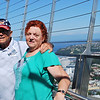 (19)  520 feet in the air above Seattle!  Yes - I do look a little ill.  (But I made it)
