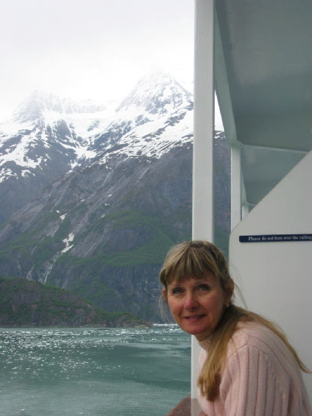 Cruising in the Tracy Arm Fjord we cautiously navigated between large chucks of ice in the water.