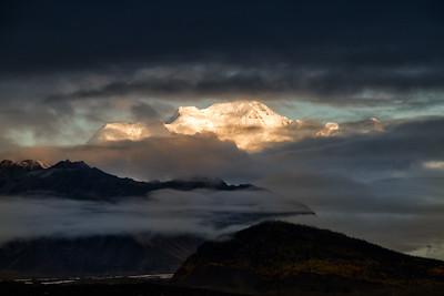 Sunrise at Kennicott Glacier Lodge
