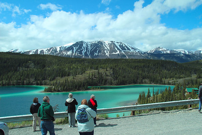 A view of Emerald Lake on the way back to the train station.