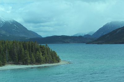 On a bus from Skagway towards the Yukon, we had beautiful views.