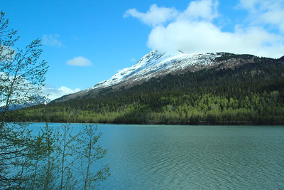 Beautiful view on the drive from Seward to Anchorage AK.