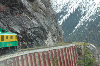 The White Pass rail car made very close turns on the way to Skagway.