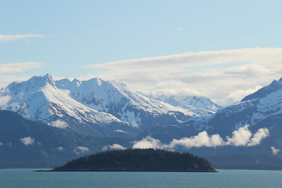 Seal island, part of Glacier Bay NP.