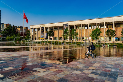 Opera House in Skanderbeg Square-Tirana