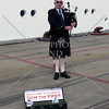 Bagpiper at the port of Albany, Western Australia.