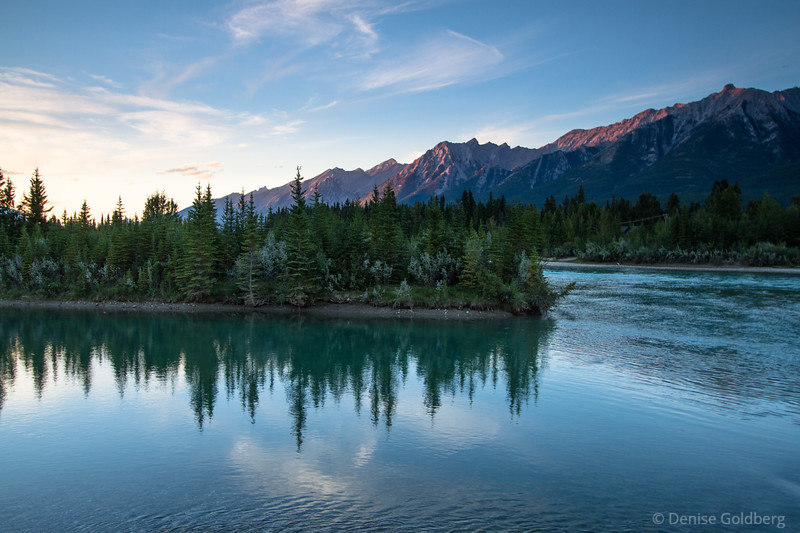 late day light along the Bow River