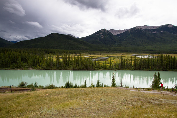 turquoise water, along the Bow Valley Parkway