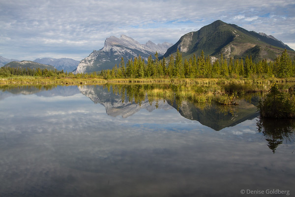 Vermillion Lakes, mountain reflections