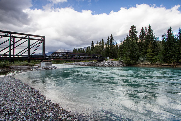 bridge across the Bow River, Canmore