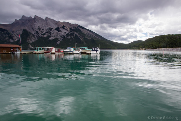 boats on Lake Minnewanka