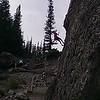 Climber at Grassi Lakes
