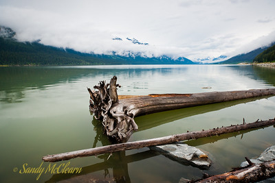 Moose Lake on the Yellowhead Highway is in British Columbia, on the way to Mount Robson from Jasper.