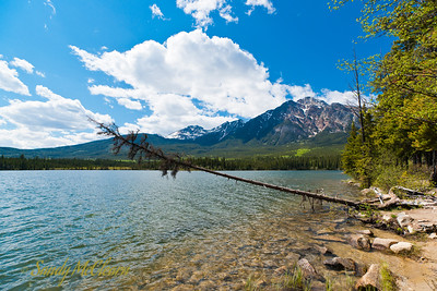A view of Pyramid Mountain from Pyramid Island on Pyramid Lake.