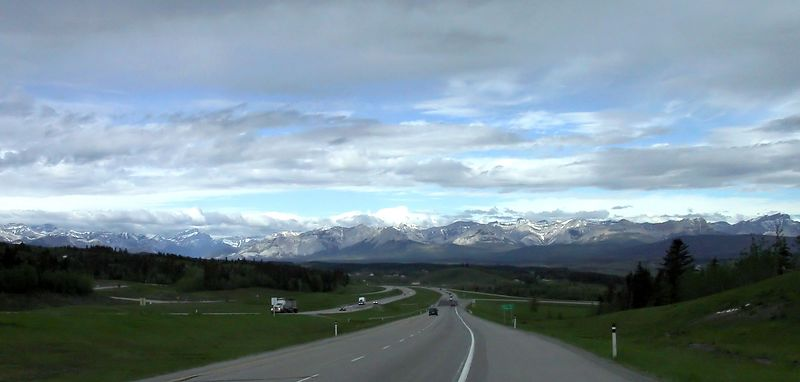 The view from Highway #1 in the foothills approaching the Canadian Rockies.<br /> <br /> --- 2004-06-06 --- 6748_CRW_01a ---