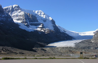 Columbia Glacier. In 1900 the glacier was 100 ft. deep where the road is.