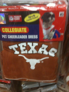 What self respecting UT alum would leave their pet under dressed?  Gotta cheer on the horns!