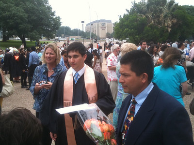 Another shot of the proud parents and graduate!