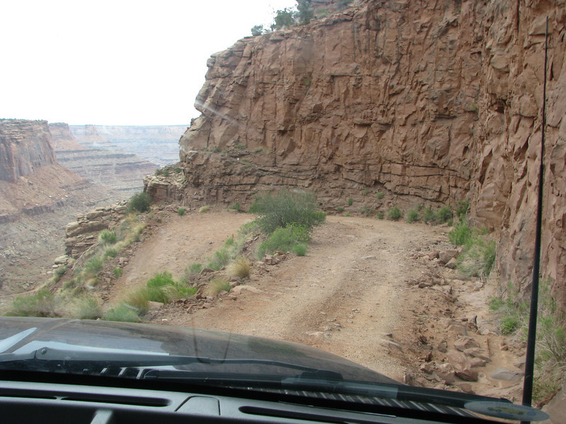 Some of the switch backs were tight, I never had to back up to made any of the turns during the drive down Shafer.