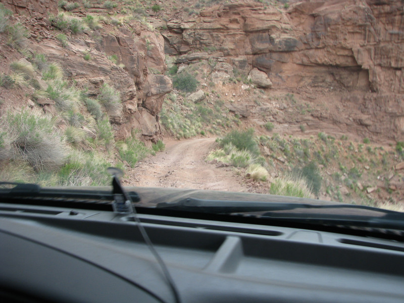 Driving down Shafer Trail road was slow, but worth ever mintue.