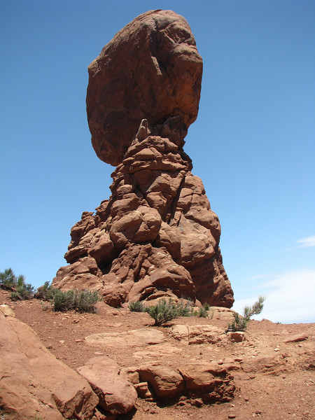 Different faces of Balancing Rock.
