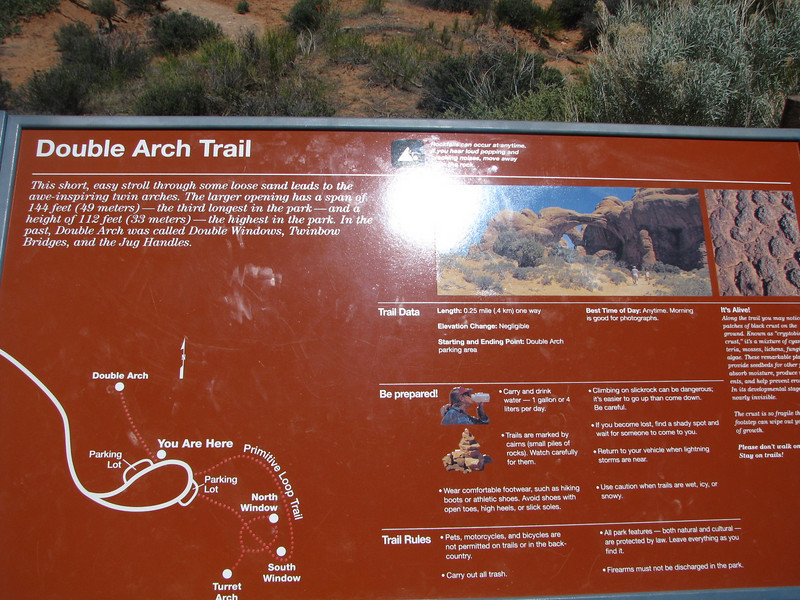 Double Arch information board.