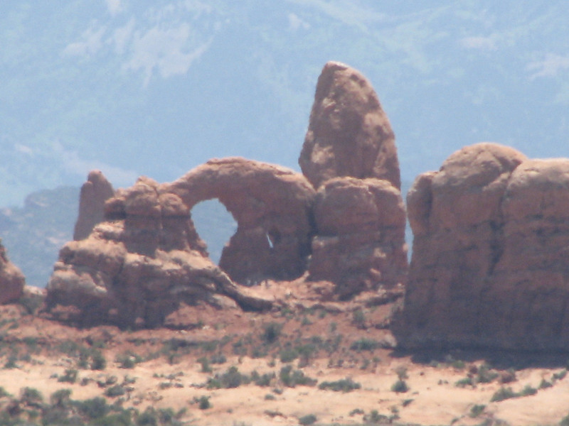 From Balancing Rock I was able to zoom in on Turret Arch in the Windows area.