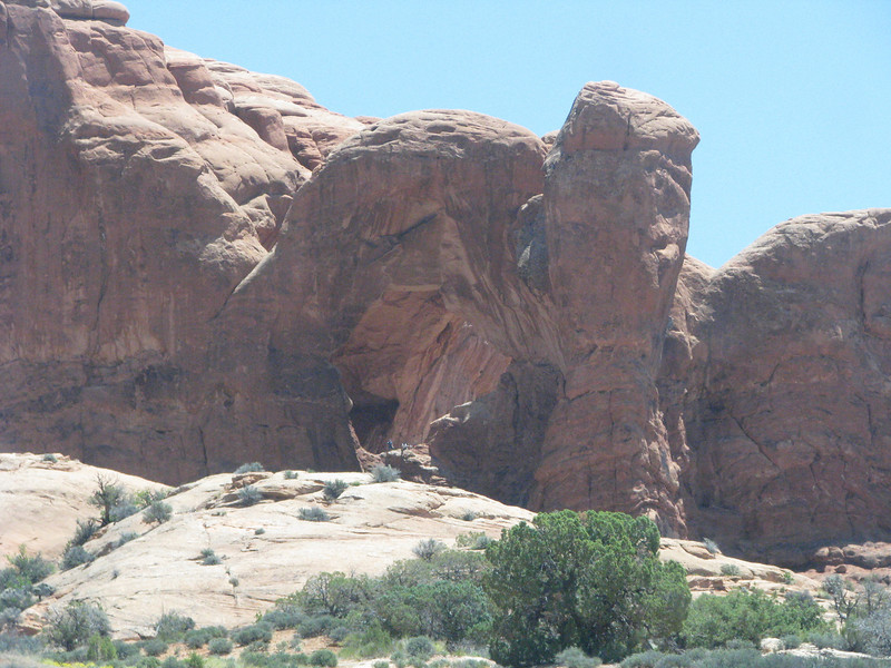 Double Arch viewed from the road.