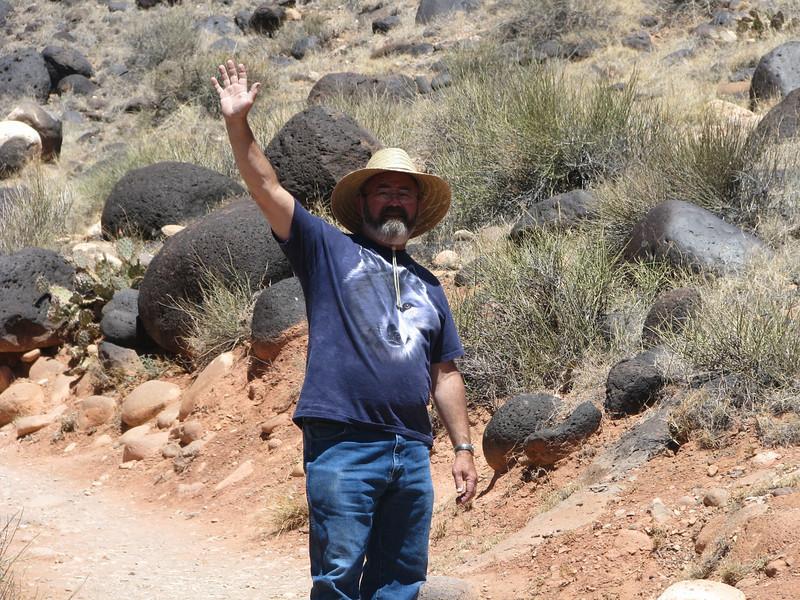I was just looking at those large black rocks behind me.