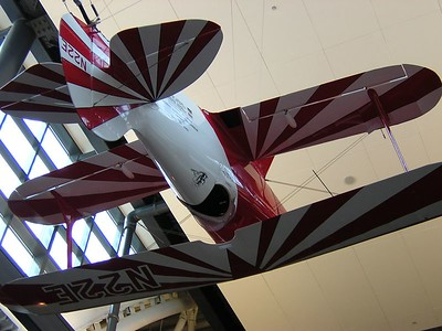 "Pitts Special ""li'l Stinker"" that hangs in the entrance way to the hangar"