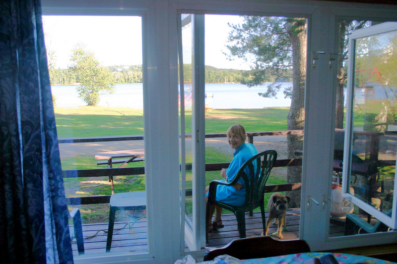 What I liked best about the cottage were the large windows at the front.   The cottage is bright and, of course, the view is nice.   The deck is a good place to relax after hiking.