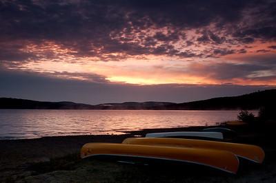 Algonquin;Sunrise-Sunset;Canoe;Flatwater