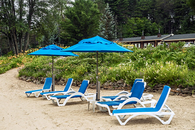 Along the beach at Blue Spruce Resort