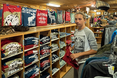 Thomas shopping at Algonquin Outfitters store
