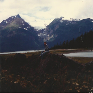 Chilkat Park in Haines - Rainbow Glacier in the distance