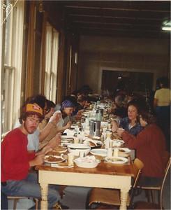 Celebration dinner at Lake Linderman