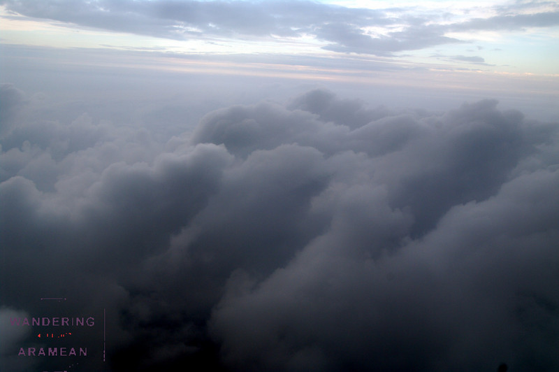 The clouds from above