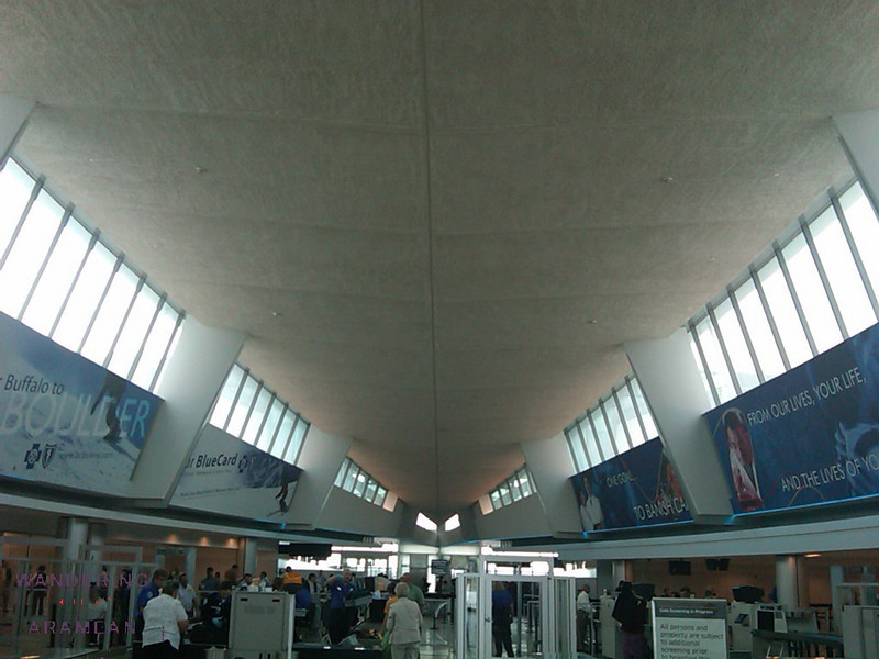 Inside the terminal at Buffalo
