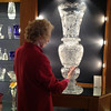 She was immensely proud of this 3 foot high crystal vase carved with Irish motifs by a young master glass cutter