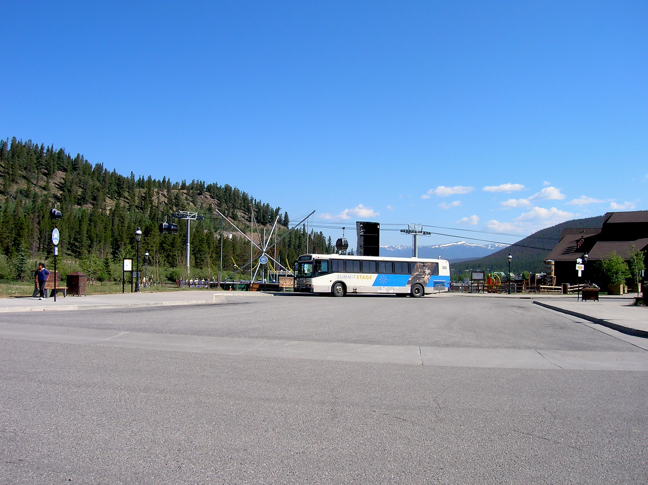 Days past: bus station in Breckenridge.