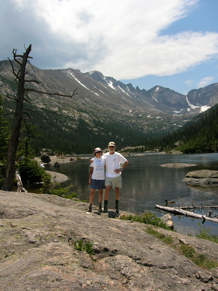 Nat and Debby at a lake above Durango.